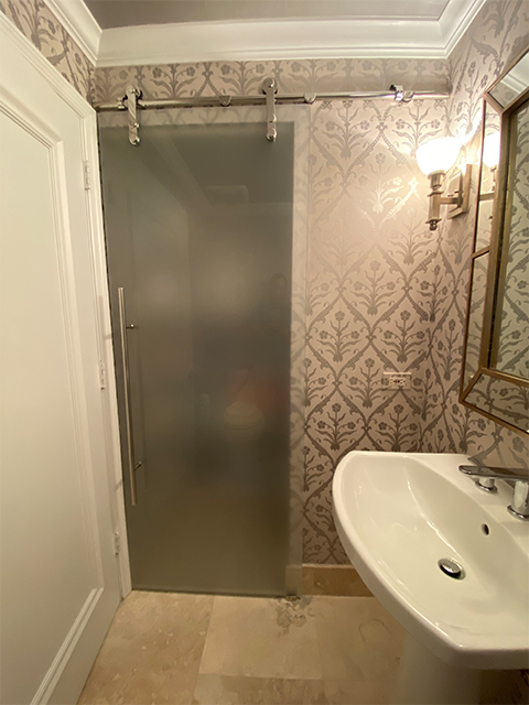 Barn Door Bath