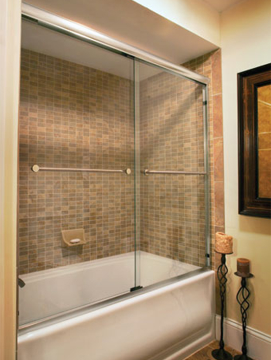 Semi Frameless Over Tub