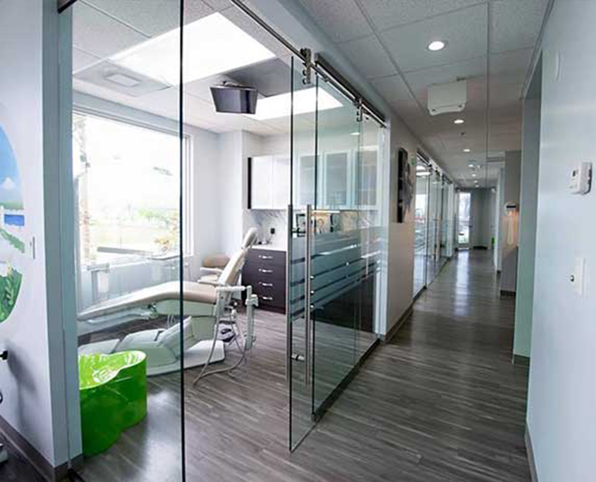 Glass Wall Dental Office
