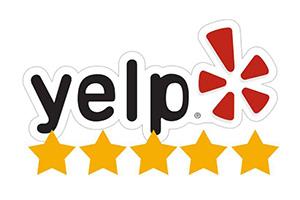 Yelp reviews 5 stars